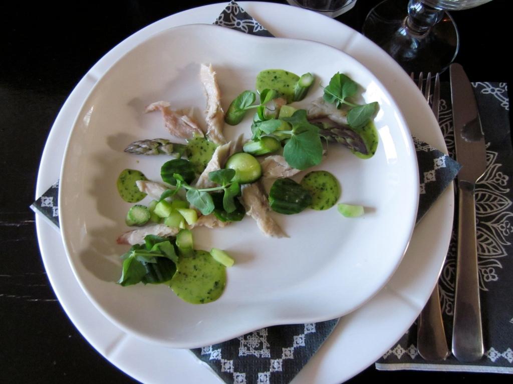 Røget makrel, vårgrønt & ramsløgmayonaise/LaCucinaNada