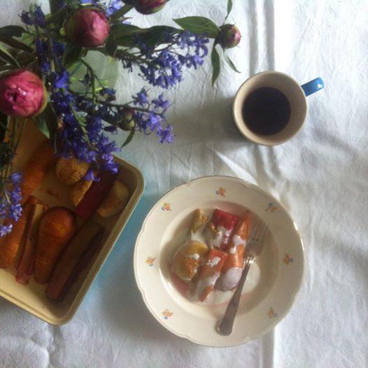 Bagte rabarber, æble og pære/LaCucinaNada