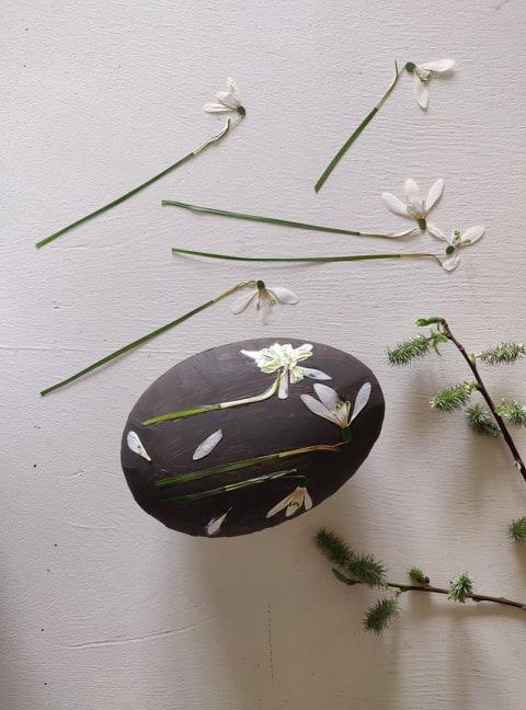 DIY:påskeæg m.tørrede blomster/LaCucinaNada