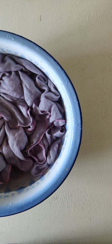 Farv stofservitter med hibisblomster