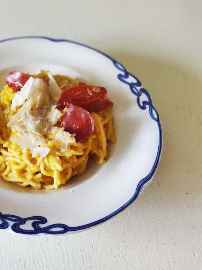Pasta m.græskarsauce